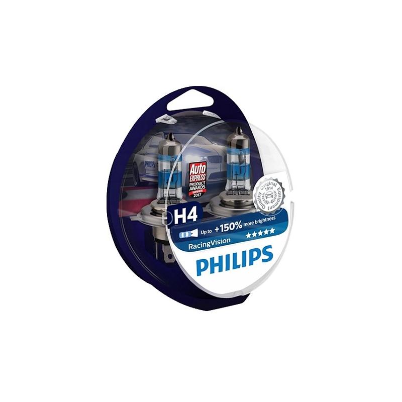Philips Żarówki H4 RacingVision +150%...