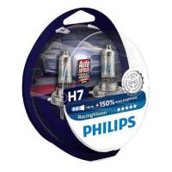 Philips Żarówki H7 Racing Vision +150% | Set