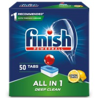 Finish All in One Lemon 50 szt. - Tabletki do zmywarki