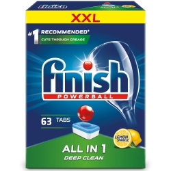 Finish All in One Lemon 63 szt. - Tabletki do Zmywarki