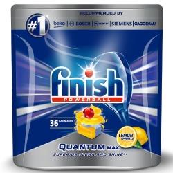 Finish Quantum Max Lemon 36 szt. - Tabletki do Zmywarki