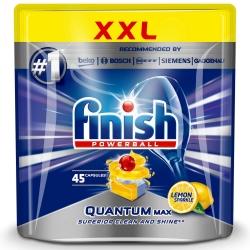 Finish Quantum Max Lemon 45 szt. - Tabletki do Zmywarki