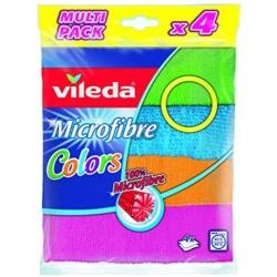 Vileda Microfibre Colors - Kolorowe Ściereczki z Mikrofibry | 4 szt.