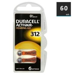 Duracell Baterie do Aparatów Słuchowych 312 | 60 szt.