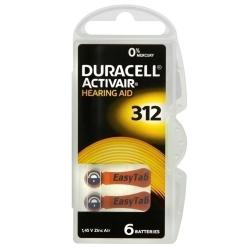 Duracell Baterie do Aparatów Słuchowych 312 | 6 szt.