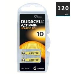 Duracell Baterie do Aparatów Słuchowych 10 | 120 szt.
