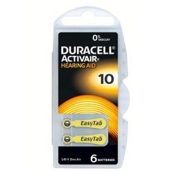 Duracell Baterie do Aparatów Słuchowych 10 | 6 szt.