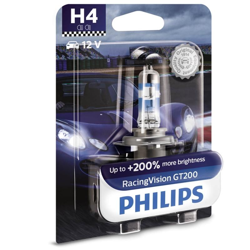 Philips Żarówki H4 RacingVision GT200...