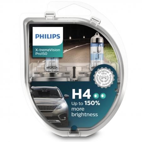 Philips Żarówki H4 X-TremeVision Pro150 +150% | Set
