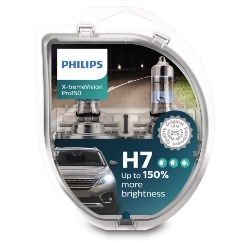 Philips Żarówki H7 X-TremeVision Pro150 +150%   Set